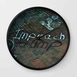 Spray paint: Impeach Trump Wall Clock