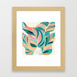 Rise Up / Tropical Leaf Illustration Framed Art Print