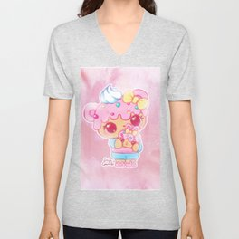 Cute Kawaii Num Nom Yummy Dottie & Bunfetti Toy Anime Fan Art Unisex V-Neck