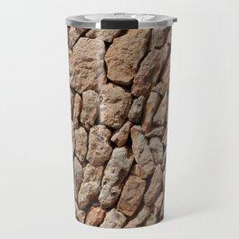 Stone wall background Travel Mug