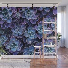Periwinkle Lavender Succulent Garden Wall Mural