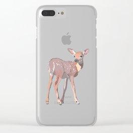 Baby Deer Art Clear iPhone Case