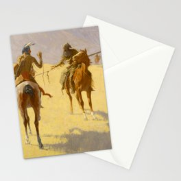 "Frederic Remington Western Art ""The Parley"" Stationery Cards"