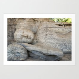 Reclining Buddha, Polonnaruwa, Sri Lanka Art Print