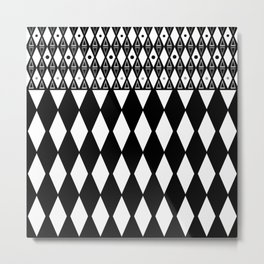 Black and white . Geometric 2 Metal Print