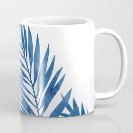 Palm Leaves Dark Blue Coffee Mug