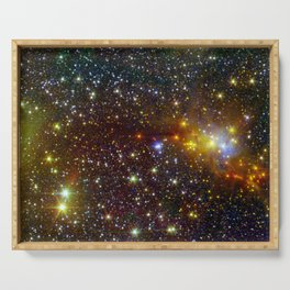 Constellation Serpens Cloud Spawns Stars Space Galaxy Serving Tray