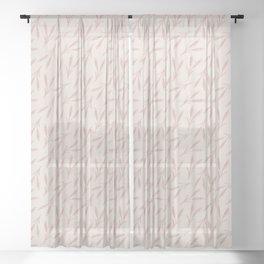 Wheat Husk Toss in Neutral Sheer Curtain