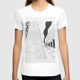 skewed geometric T-shirt
