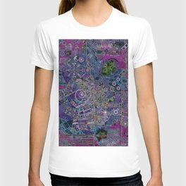 """""""non-existing"""" city """"existing"""" map T-shirt"""