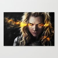 bad wolf Canvas Prints featuring Bad Wolf by Westling