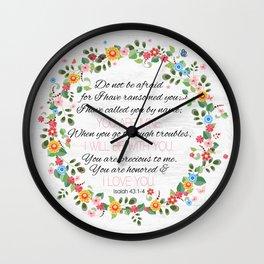 Isaiah 43: 1-4 Wall Clock