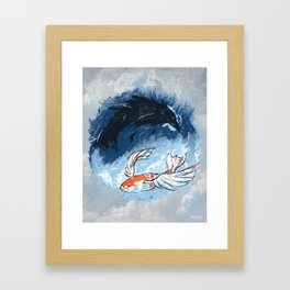 Ocean of Sky Framed Art Print