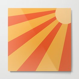 summer striped sun Metal Print