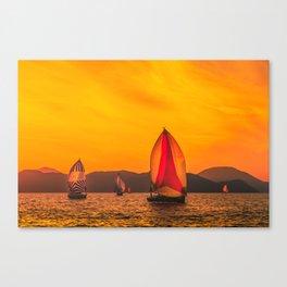 Solar wind Canvas Print
