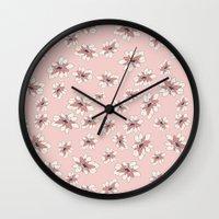 abigail larson Wall Clocks featuring Abigail 4 by Teri Martin