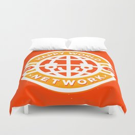 HAPPY WORLD NEWS NETWORK Duvet Cover