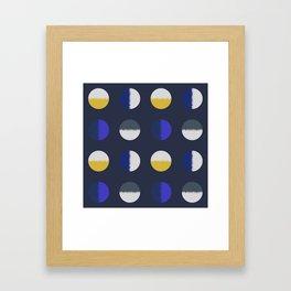 circles-blue yellow Framed Art Print