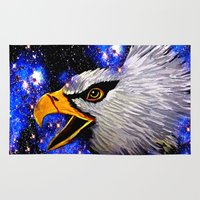 eagle Area & Throw Rugs featuring Eagle by Saundra Myles