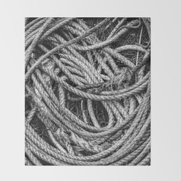 Coiled Rope Throw Blanket