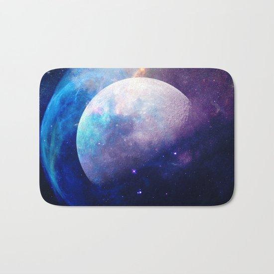 Galaxy Moon Space Bath Mat
