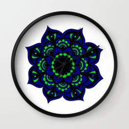 Peacock flower | Mandala Wall Clock