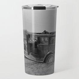 Vintage Automobile After A Flood - Indiana - 1937 Travel Mug
