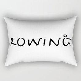 Rowing Text 1 Rectangular Pillow