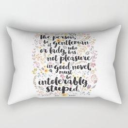 Jane Austen - Intolerably Stupid  Rectangular Pillow