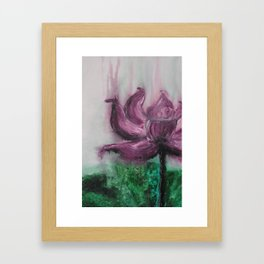 Water Lotus Framed Art Print