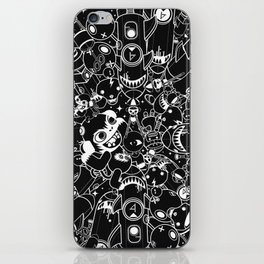 For Good For Evil - Black on White iPhone Skin