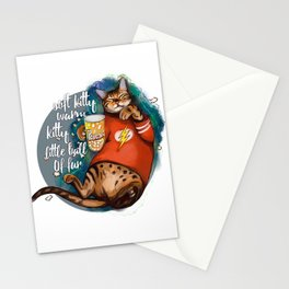 Soft kitty warm kitty little ball of fur galaxy cat Stationery Cards