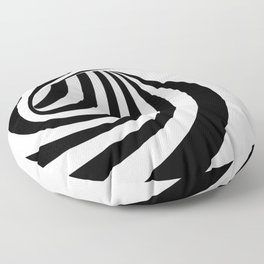 Pattern black and white Floor Pillow