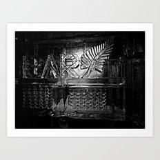 ice bar. Art Print