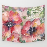 romance Wall Tapestries featuring Romance by Studio 318 Kathleen Pequignot Fine Art