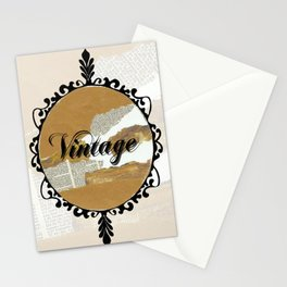 Vintage Collage Frame Stationery Cards