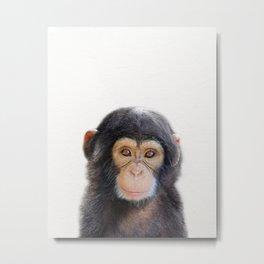 Baby Monkey, Baby Animals Art Print By Synplus Metal Print
