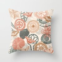 doodle Throw Pillows featuring doodle  by Ancello