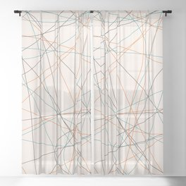 Colored Line Chaos #21 Sheer Curtain