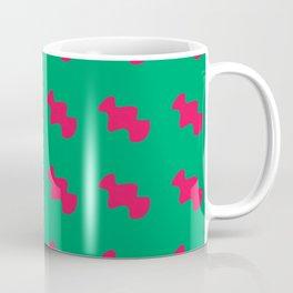 Red pattern green background Coffee Mug