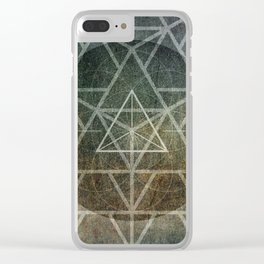 Tetrahedron Ignis Clear iPhone Case