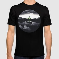 The Landing A Zebes Surrealism Mens Fitted Tee MEDIUM Black