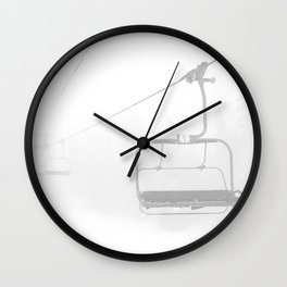 Snow Day Lift // Copper Mountain Colorado Skilift Whiteout Snowing Powder Conditions Wall Clock