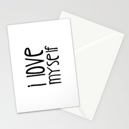I love myself Stationery Cards