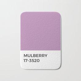 Mulberry • Pantone • Paint Swatch • Cool Tones • Lavender Bath Mat