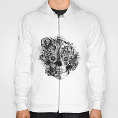 Floral Ohm skull from hand and digital illustration.  Hoody
