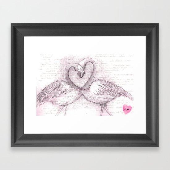 The Flamingos Framed Art Print