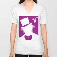 willy wonka V-neck T-shirts featuring Willy Wonka Tribute Poster by stefano manca