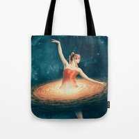 nan lawson Tote Bags featuring Prima Ballerina Assoluta by Paula Belle Flores