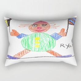 Race Clown Rectangular Pillow